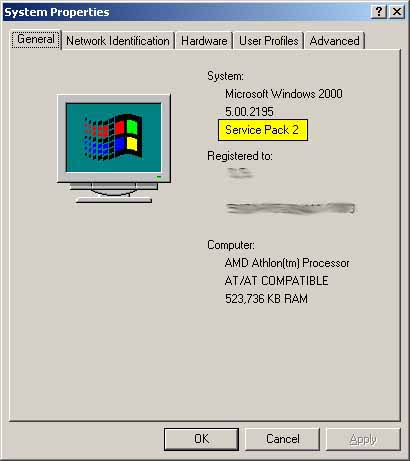 Service pack 2 for windows 2000 professional